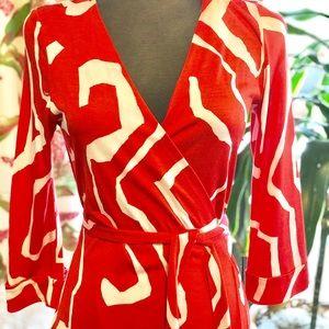 Classic Diane von Furstenburg Silk Wrap Dress